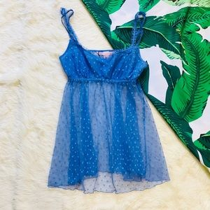 Victoria's Secret light blue mesh babydoll